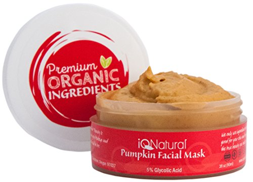 IQ Natural 2oz 5% Glycolic Acid Pumpkin Mask (AHA Enzyme) Spa ()