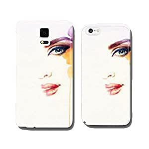 Beautiful woman face. watercolor illustration cell phone cover case iPhone5