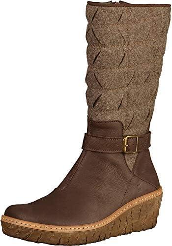 El Naturalista N5138 Pleasant-Premium Wool Black/Myth Yggdrasil Nero Donna Stivale A Zip