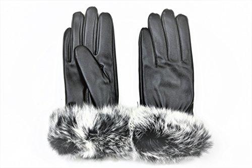 【ELEEJE】 高級感あるラビットファー手袋 寒い冬でも大活躍のスマホ対応手袋