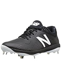 New Balance Men's L4040v4 Metal Baseball Shoe, Black, 10.5 D US