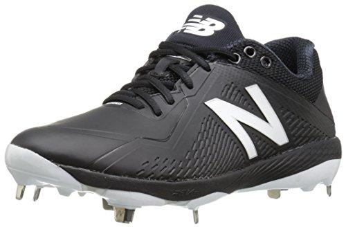 New Balance Men's L4040v4 Metal Baseball Shoe, Black, 9.5 2E US