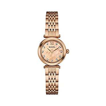 Bulova Women's 97P116 Stainless Steel and Gold Dress Watch