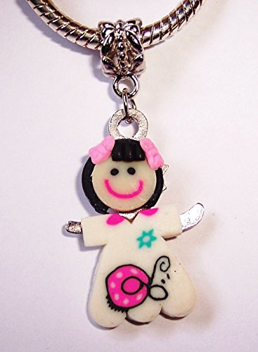 Girl Daughter Granddaughter Niece Dangle Bead for Silver European Charm Bracelet Crafting Key Chain Bracelet Necklace Jewelry Accessories Pendants