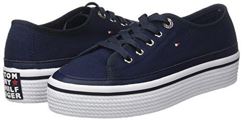 Hilfiger Basses Tommy Navy tommy Femme Flatform Bleu Sneakers Corporate Sneaker 406 UnnTdBq