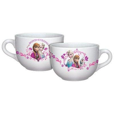 Disney Frozen Florals Soup Mug Set (Floral Collection Blue Mug)