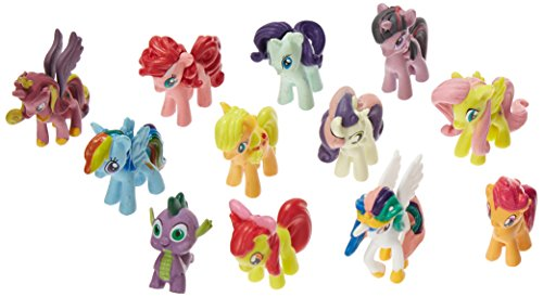 OliaDesign Set of 12 Pony PVC Toy Cake Topper Twilight Sparkle Figure Set