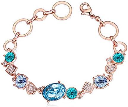 Aquamarine Tuersuer Beautiful Bracelets Women Extravagance Luxury Elegant Crystal Bracelet Charm Colorful Creative Geometry Diamond Champagne Gold Jewelry