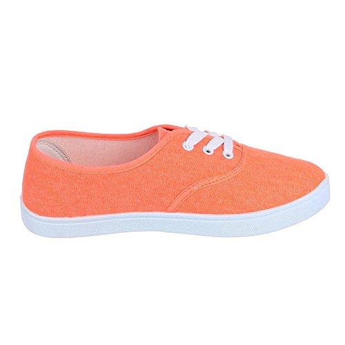 Ital-Design - Zapatillas de casa Mujer Naranja - naranja