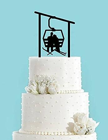 Hochzeitstorten Deko Sesselbahn Mit Zwei Skifahrern Dekoration Fur
