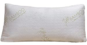 bamboo shredded memory foam queen pillow with removable bamboo cover