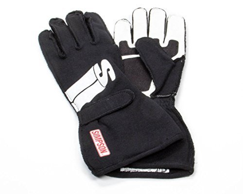 Simpson Safety X-Large Black Double Layer Impulse Driving Gloves P/N IMXK