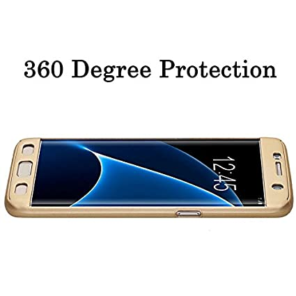 SDO™ Protective Slim Fit 360 Hybrid Body Cover Case with Tempered Glass for  Samsung Galaxy J2 (Champagne Gold)