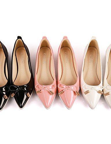 de eu36 negro de cn36 Toe us6 PDX punta uk4 blanco Casual Toe pink talón la zapatos rosa cerrado mujer Soporte Flats 4Fq5UB