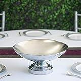 Efavormart 15' Tall Metallic Silver Floating Candle Pedestal Bowl Flower Pot Centerpiece