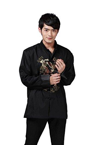 indumento Tang 2 nero colori Acvip cinese Pattern Camicia kung fu retro Jacket ricamato Man Pw5wqOAa8