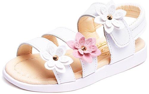 Toe Flower Girl (UBELLA Toddler Girl's Flower Open Toe Strap Sandals Summer Flat Princess Shoes)