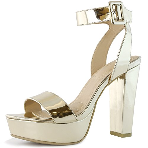 Ankle Strap Platform Pump Shoes - 2