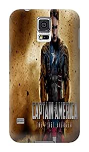 Latest stylish design skin back cover case with texture for Samsung Galaxy s5(Marvel Avengers Captain America) by Kathleen Kaparski