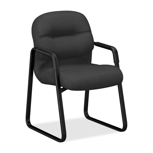 - HON Pillow-Soft 2090 Series 2093 Guest chair - Foam Charcoal Seat - Charcoal Back - Black Frame - 23.3quot; x 27.8quot; x 36quot; Overall Dimension