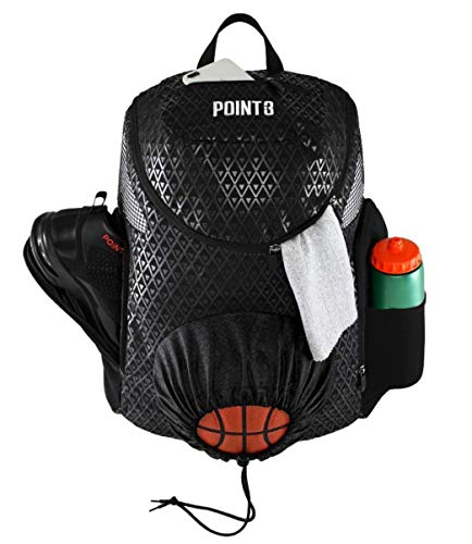 Road Trip 2.0 Basketball Backpack Sports Athletic Bag with Built in Compartments for Basketball, Shoes, Water