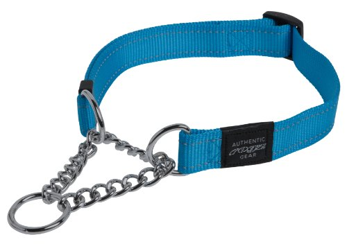 Reflective Nylon Choke Collar; Slip Show Obedience Training Gentle Choker for Extra Large Dogs, Turquoise - Limited Choke Collar
