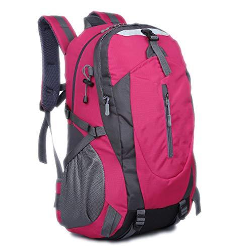 azhuang Waterproof Nylon Backpack Men Women Bag Rucksack Mountaineering Bag Travel Bags Men's Backpacks,Enhanced Rose Red