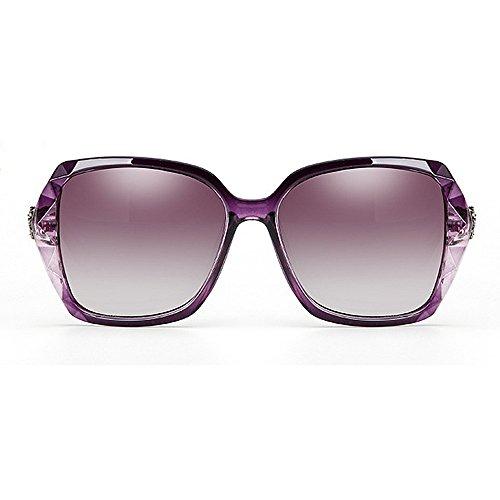 para Gafas polarizadas rizadas las decoración mujeres de de sol sol cuadrado de gafas de ULTRAVIOLETA del cristal sol las de marco la sol Gafas Gafas sol señor Púrpura Gafas Protección de la del de frescas de fc8qBRWfE