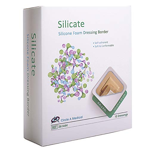 Silicate Silicone Foam Dressing with Border Sterlie, 4