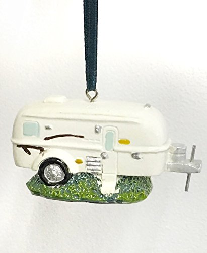 Vintage Trailer Ornament made our list of the most unique camping Christmas tree ornaments to decorate your RV trailer Christmas tree with whimsical camping themed Christmas ornaments!