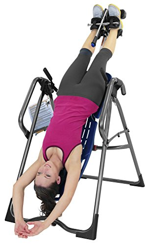 Teeter EP 970 Ltd Inversion Table with Back Pain Relief Kit, Blue/Titanium