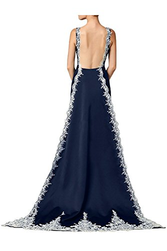 DreHouse with Grape Embroidery Women's Mermaid Train Gowns Dresses Evening Applqiues Backless Prom rCrqB