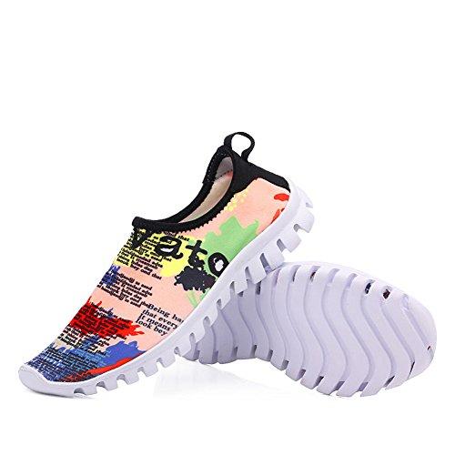 Zapatos de agua Hombres de secado rápido Natación Deportes Aqua zapatos para caminata Playa Jardín Lake Park Lake Sneaker Flor