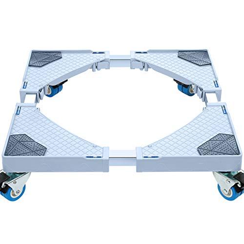 ZHIJIAB Adjustable Roller Trolley,Washing Machine Trolley,Adjustable Appliance Base for Tumble Dryers Refrigerator,4Brake(Double-Wheel) ()
