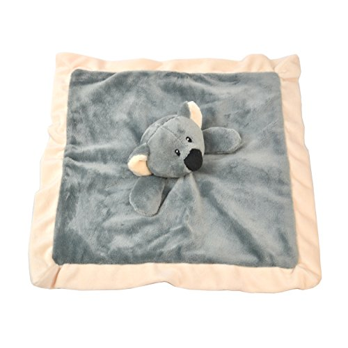 Lovey Security Blanket 12 inch Square Stuffed Animal Baby Blankie for Girls or Boys (Koala) by Baberoo (Koala Blanket Soft Baby)