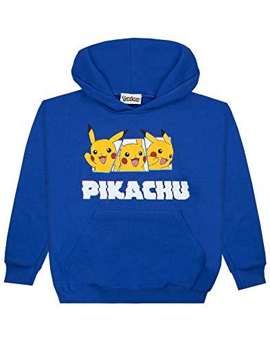 Pokemon Pikachu Boy's Hoodie (7-8 Years) Blue]()