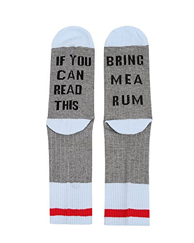 Womens Wine Socks Fun Novelty Crew Knit If You Can Read This Socks with Saying