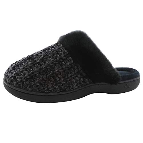 Zigzagger Women's Soft Chenille Fleece Memory Foam Slippers Slip-On Clog House Shoes for Indoor & Outdoor Use by Zigzagger