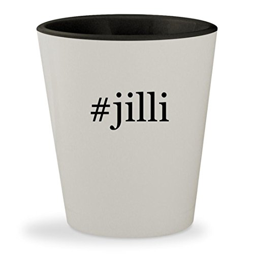 #jilli - Hashtag White Outer & Black Inner Ceramic 1.5oz Shot Glass