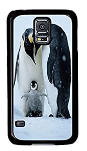 silicone Samsung Galaxy S5 covers King Penguin Animal PC Black Custom Samsung Galaxy S5 Case Cover