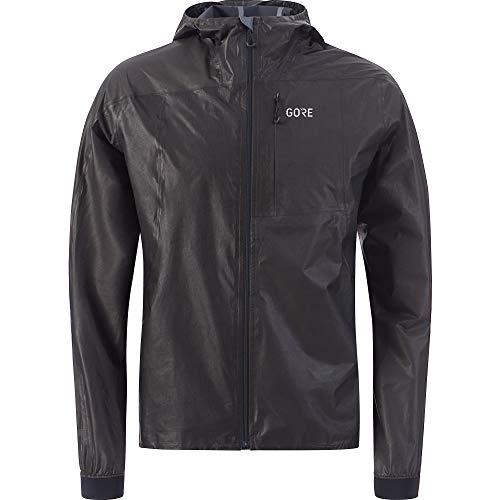 GORE Wear R7 Men's Hooded Running Jacket GORE-TEX SHAKEDRY, XL, Black