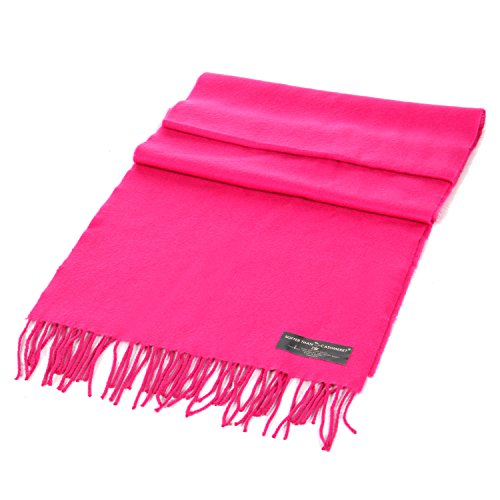 Cashmere Feel Scarf, Wrap Shawl Scarves, for Men & Women, by SERENITA, New Hot Pink
