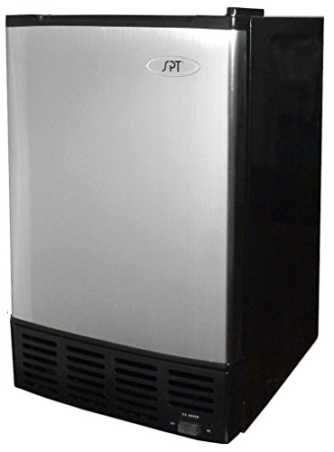 Price comparison product image Sunpentown IM-150US Stainless Steel Undercounter Ice Maker with Freezer