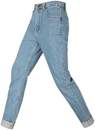 O&W Vintage Washed Plus Size High Street Boyfriend Denim Trousers