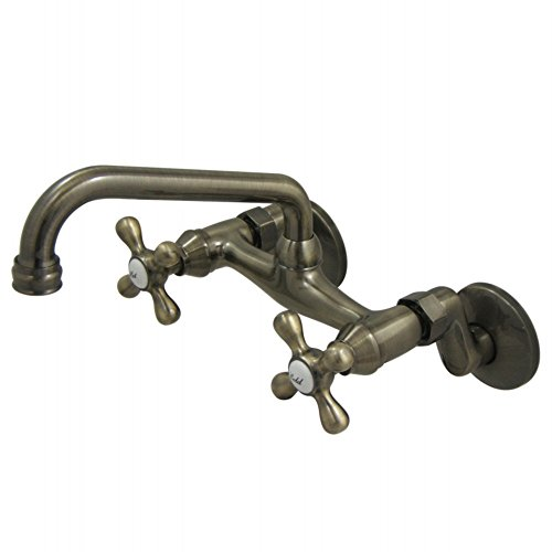 - Kingston Brass KS213AB Magellan Kitchen Faucet, Antique Brass