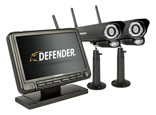 Defender PhoenixM2 Wireless Security System with 7`Monitor and Two Night Vision Cameras ()
