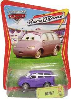 Race O-rama Series (Disney / Pixar CARS Movie 1:55 Die Cast Car Series 4 Race-O-Rama Mini (Mrs. Van))