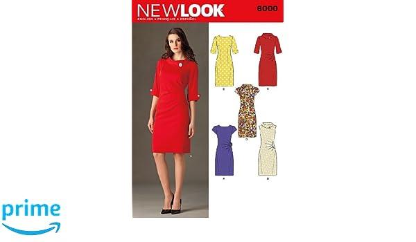New Look 6000 - Patrón de costura para vestido de señora (tallas 30 a 42): Amazon.es: Hogar