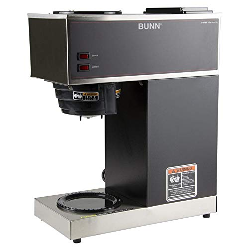 - Bunn VPR Pourover Coffee Brewer w/Lower & Upper Warmers, (2) Decanters, 120v (33200.0015)