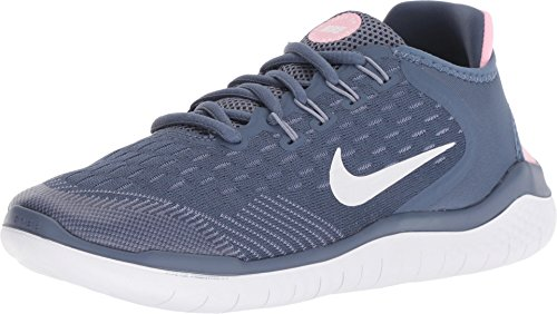 NIKE FREE RN 2018 (GS), Diffused Blue/White-ashen Slate-pink, 5 M US Big Kid